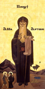 Coptic icon of Saint Anthony the Great