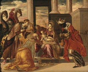 Adoration of the Magi by El Greco, 1568