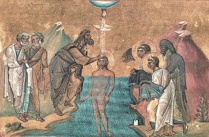 The Baptism of Christ (Menologion of Basil II, 10th-11th c.)