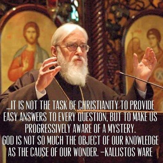 It is not the task of Christianity to provide easy answers…