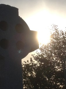 celtic cross sunset
