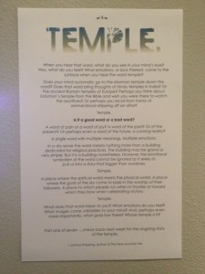 Temple: A Word With Multiple Meanings
